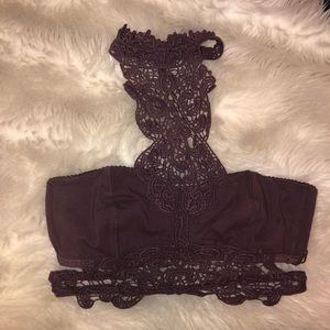 Pretty lace halter bra from Free People.